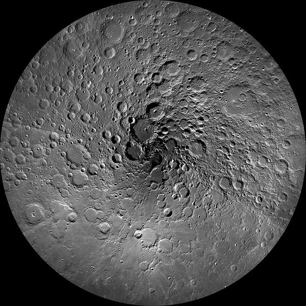 New Photo of Moon's North Pole Reveals Spiral Illusion