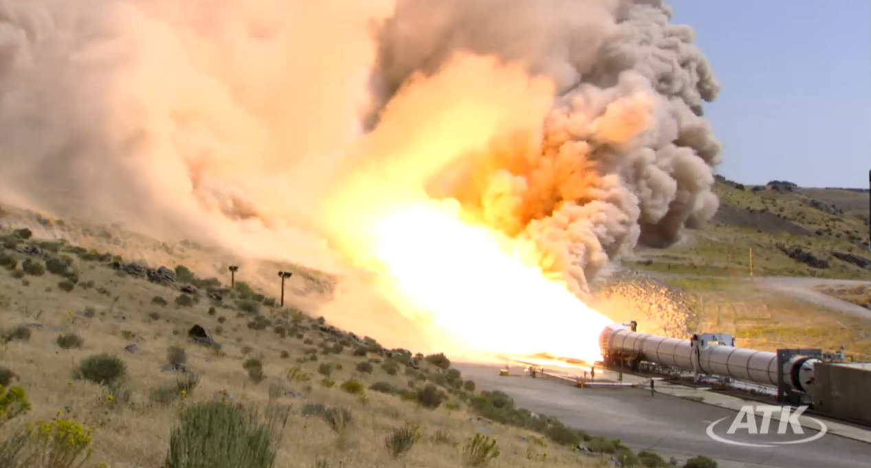 World's Largest Solid Rocket Motor Ignites in Utah Desert Test
