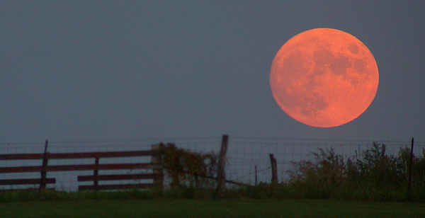 Why Is the Harvest Moon Big and Red?
