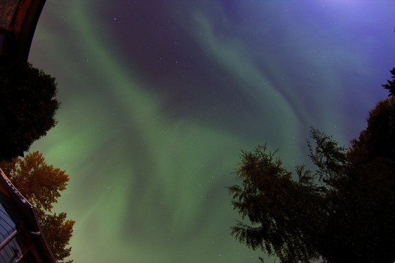 Colin Chatfield captured this shot of the super-charged aurora on Sept. 9, 2011 from his backyard in Saskatoon, Saskatchewan, Canada.