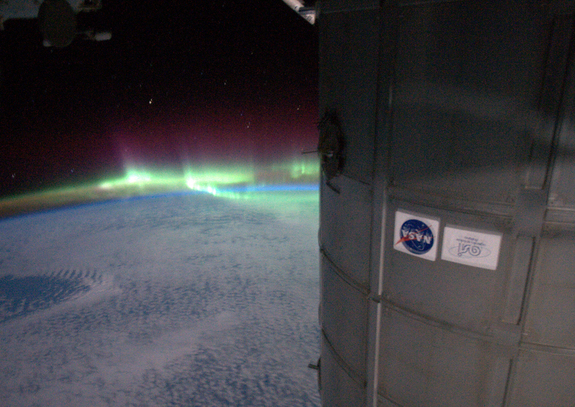 Astronaut Ron Garan took this photo of the northern lights from the International Space Station. Garan tweeted the photo on Sept. 11, 2011.