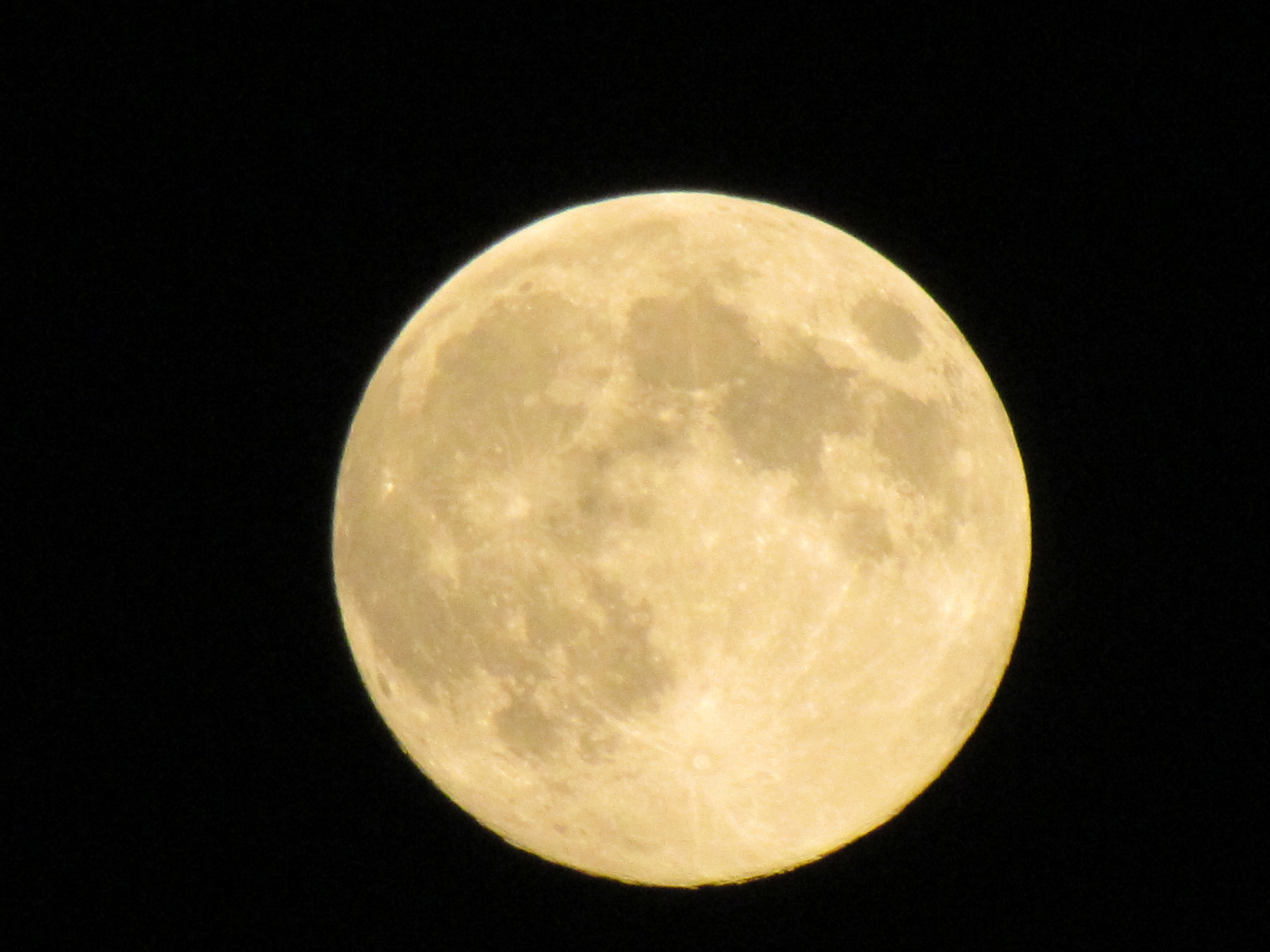 2011 Harvest Moon Above Northeastern Pennsylvania