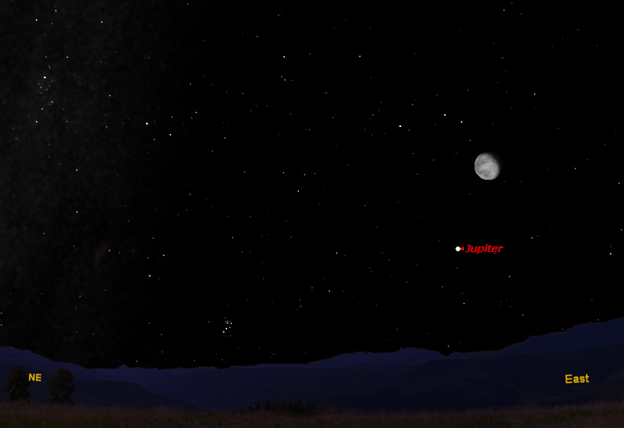 Jupiter Teams Up With the Moon Tonight & Friday
