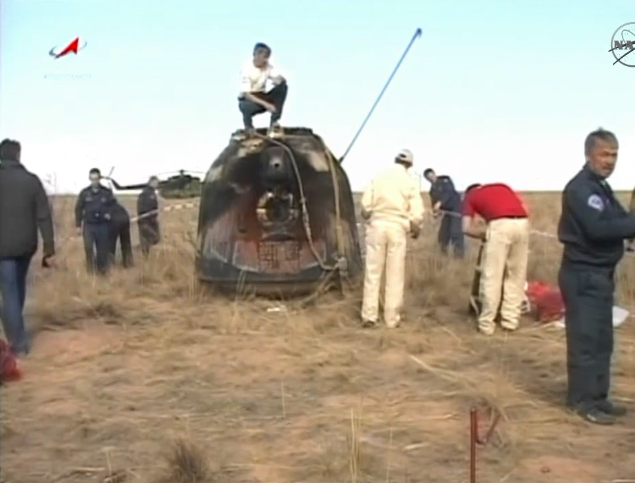 Soyuz TMA-21 Space Capsule After Landing