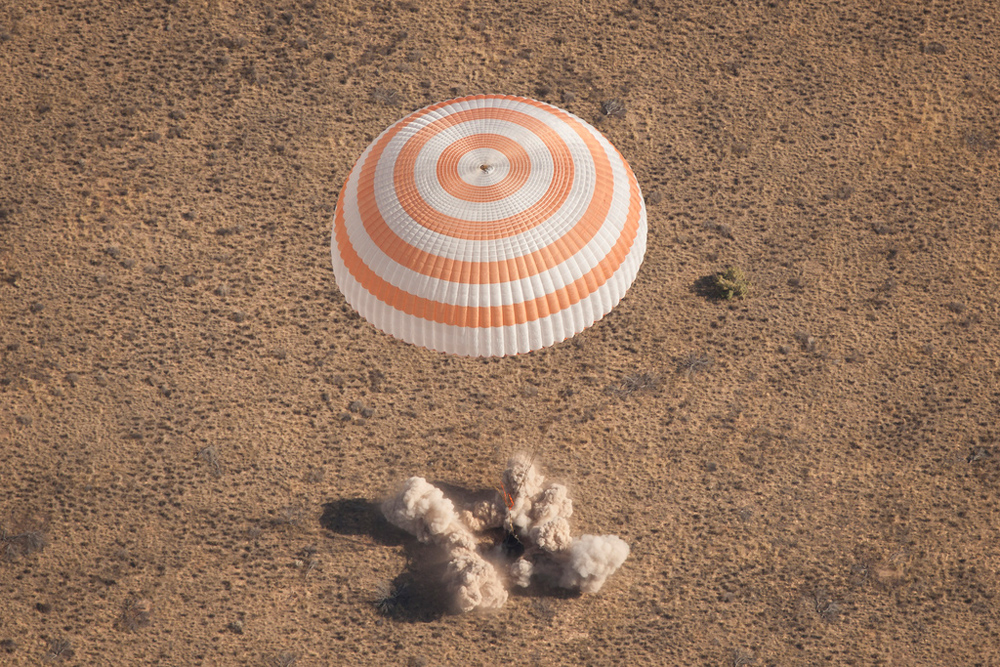 Soyuz Spacecraft Lands Safely with Russian-US Crew