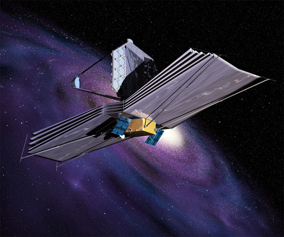 Artist's depiction of NASA's $8.8 billion James Webb Space Telescope, which is scheduled to launch in 2018.