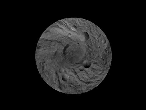 Map of Vesta's South Pole