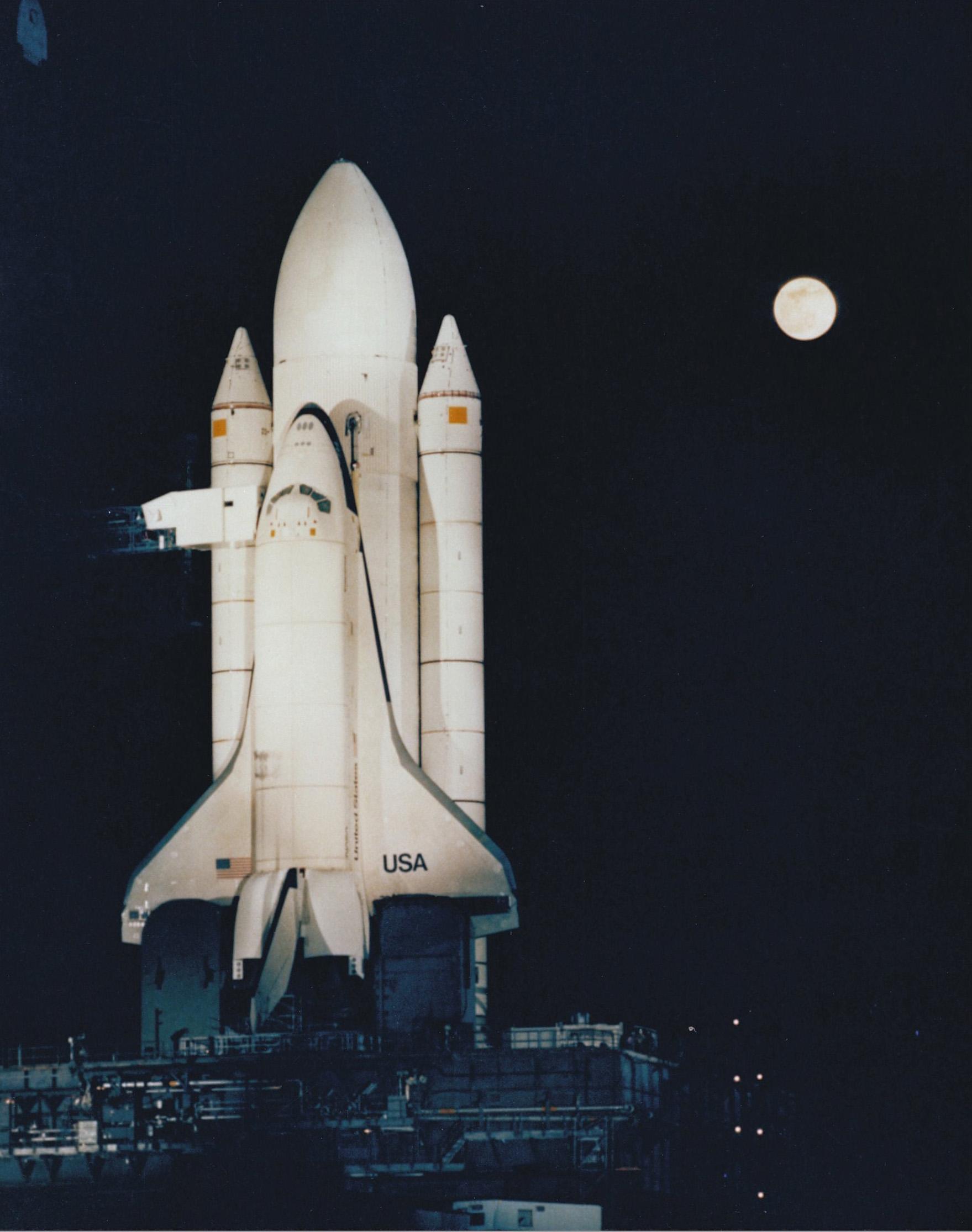 last space shuttle moon - photo #12