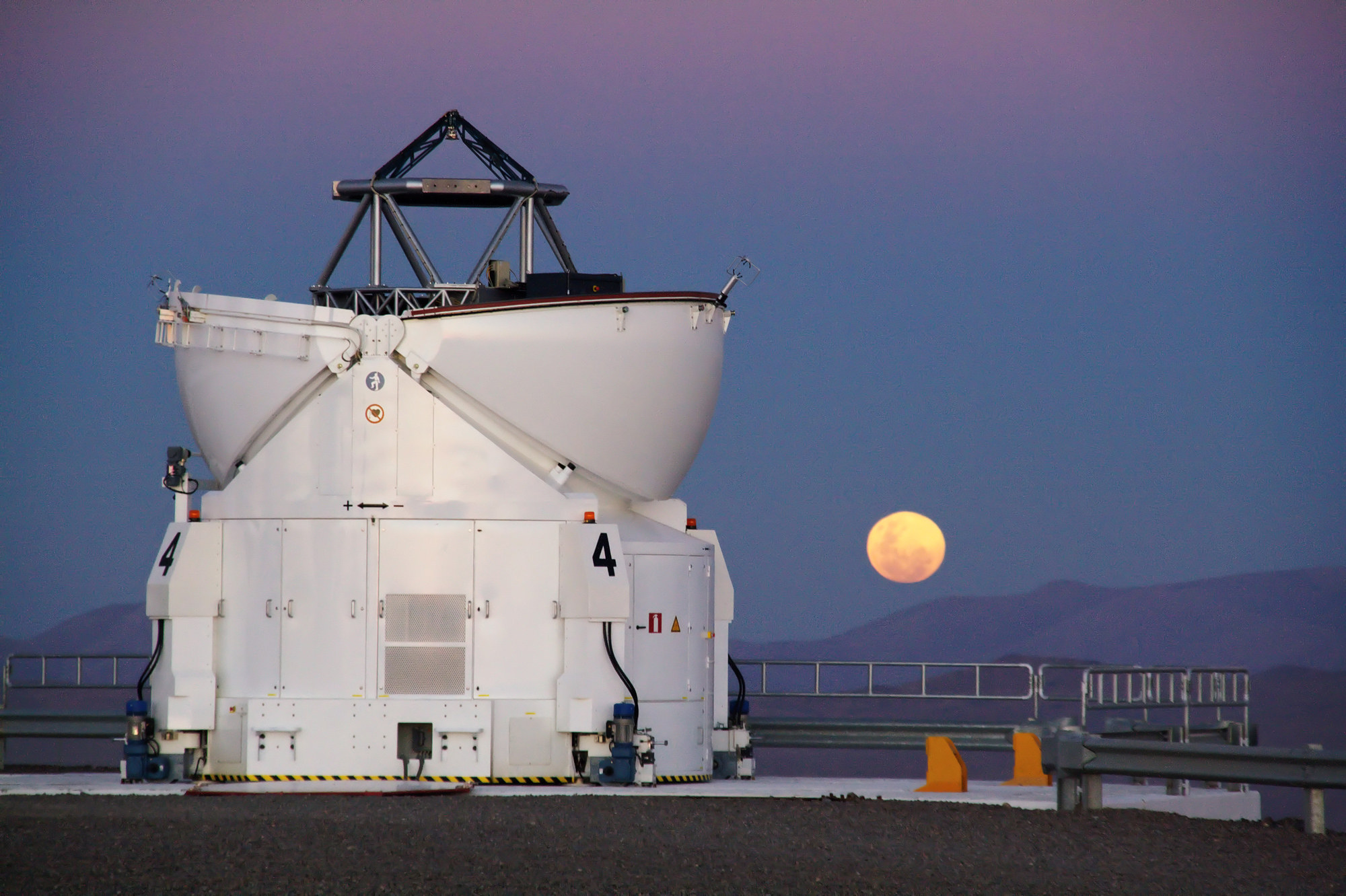 Red Harvest Moon over Paranal, Chile