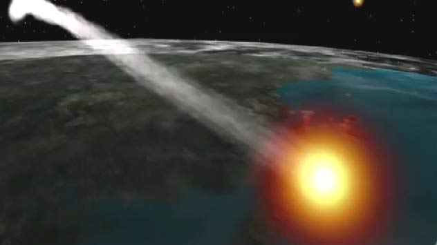NASA's UARS Satellite Plunging Through Earth's Atmosphere