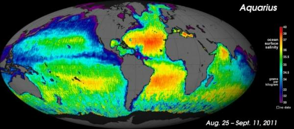 New Map Shows Saltiness of Earth's Oceans
