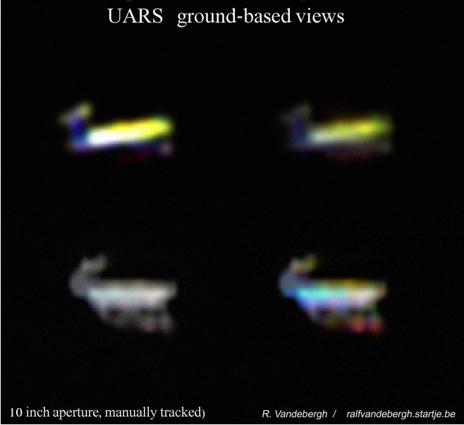 Ralf Vandebergh's Ground-Based Views of Tumbling UARS Spacecraft
