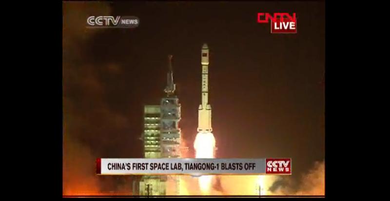 China's Tiangong-1 Lifts Off