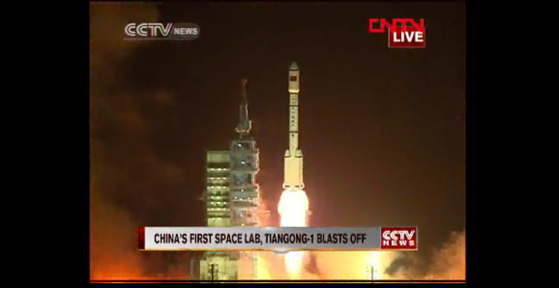 China Launches 1st Space Lab Module Into Orbit for Docking Tests