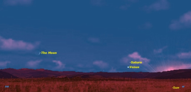 See Planets Saturn & Venus Perform Celestial Dance Tonight