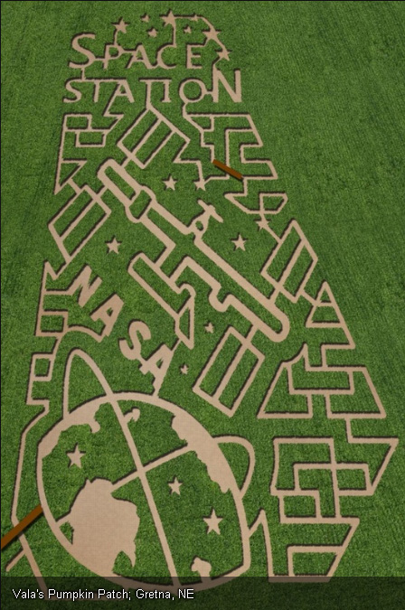 Corn Maze in Vala's Pumpkin Patch in Gretna, Nebraska