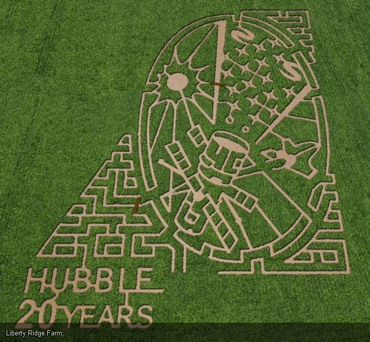 Vast Corn Maze at Liberty Ridge Farm in Schaghticoke, New York