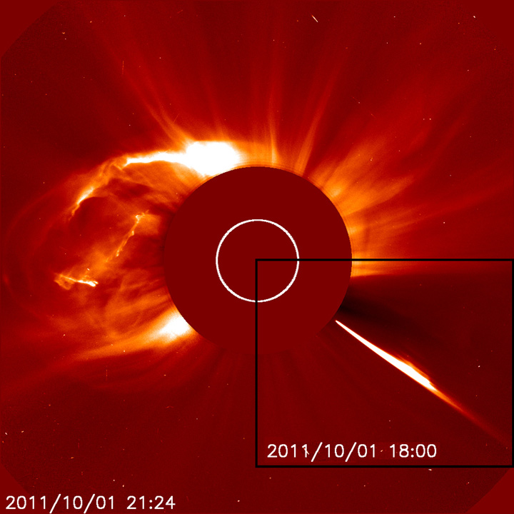 Did Comet Cause Solar Explosion? Hardly, Experts Say