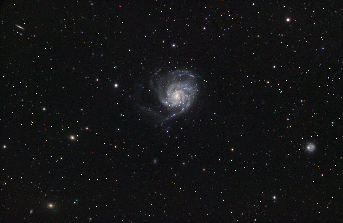 Giant of the Night Sky: Skywatcher Spots Colossal Pinwheel Galaxy