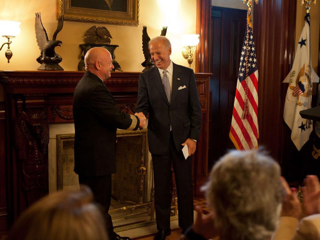 Vice President Biden Honors Mark Kelly