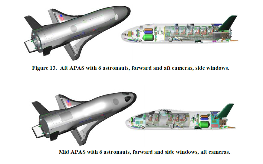 Aft and Mid APAS X-37B Configurations