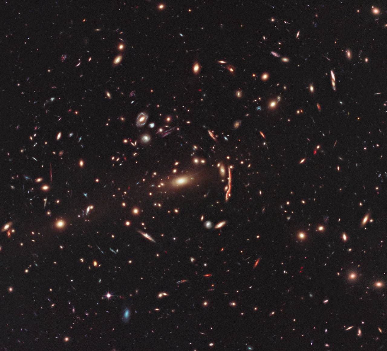 Hubble's View of Gravitational Lensing Cluster