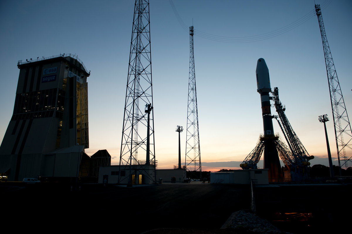 Soyuz VS01 on Launch Pad
