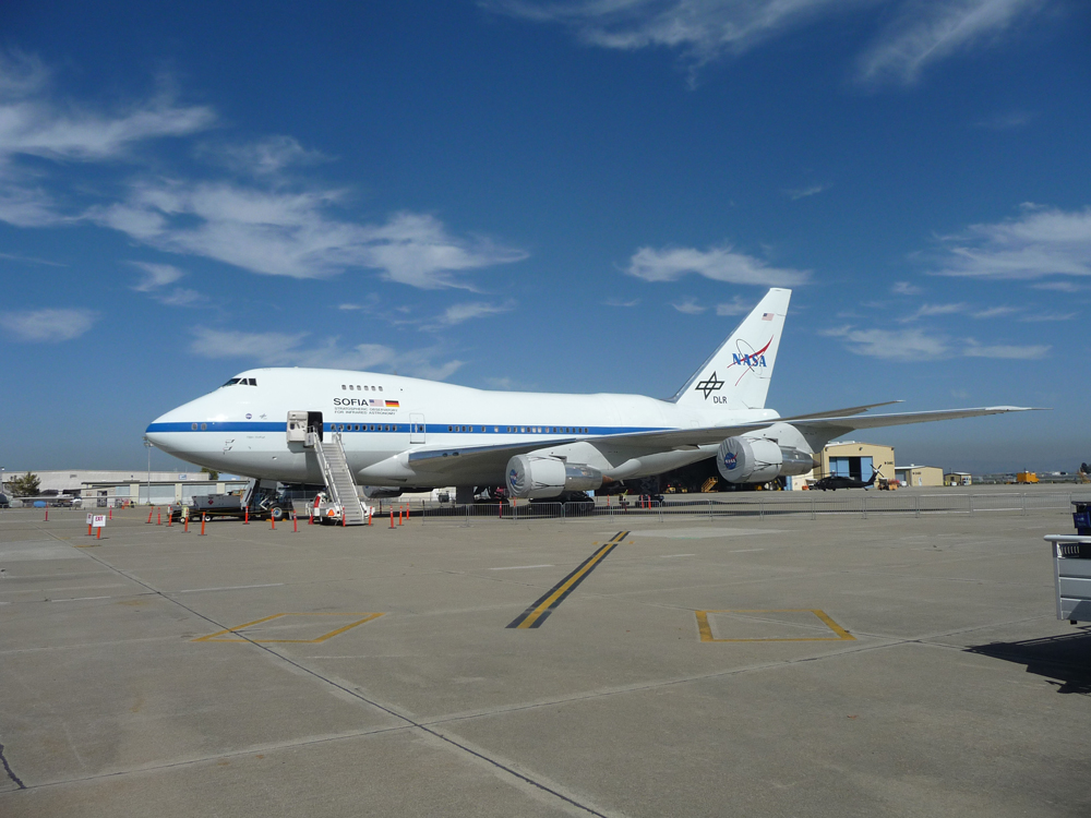 Side View of NASA's SOFIA Airborne Observatory