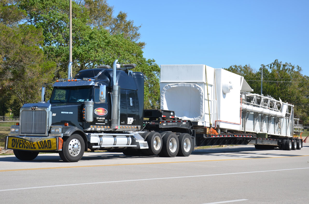 Historic Space Shuttle Launch Pad Parts Arrive for Display in Houston