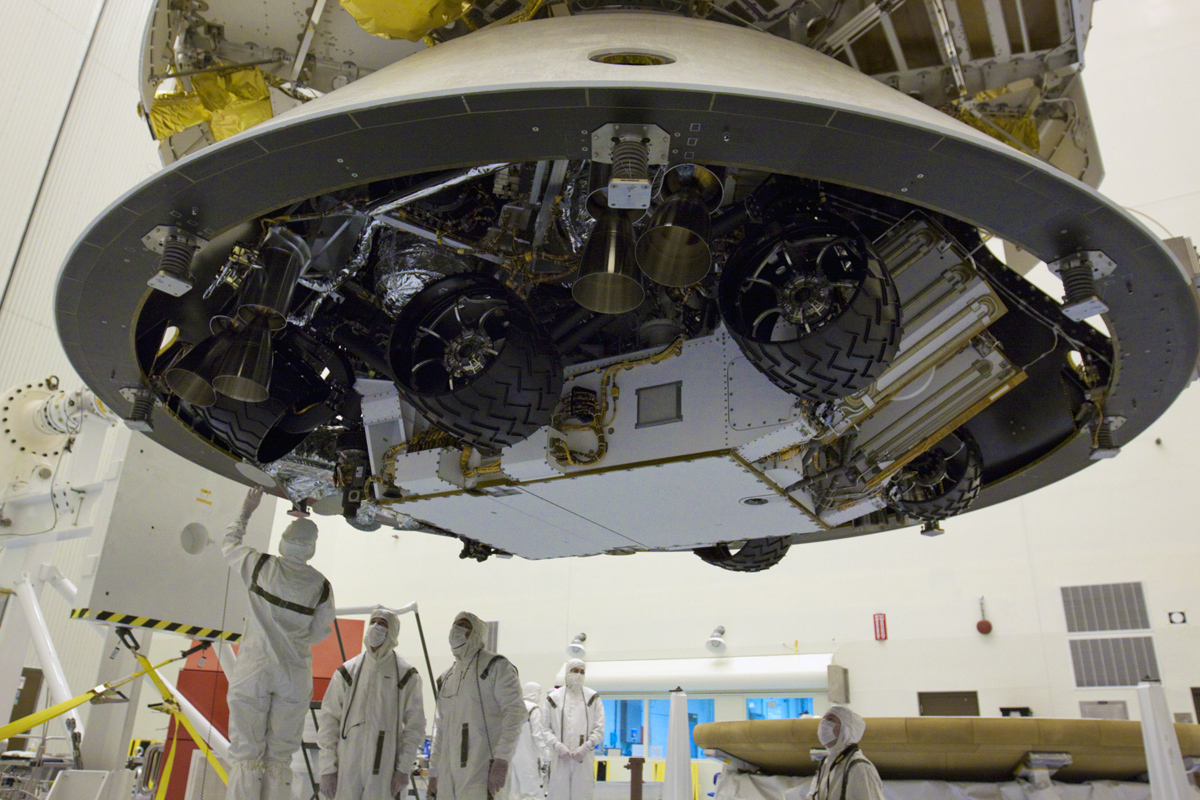 Underneath Mars Science Laboratory's Aeroshell