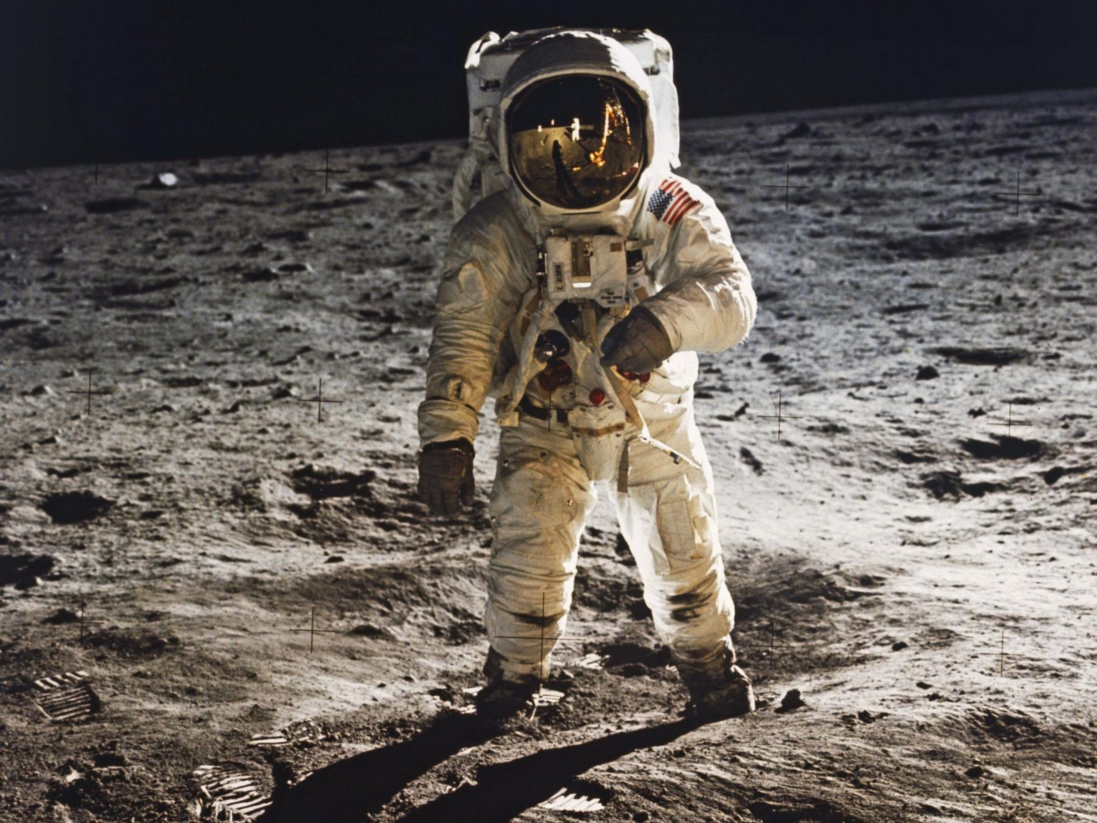 Buzz Aldrin Walks on the Moon in 1969