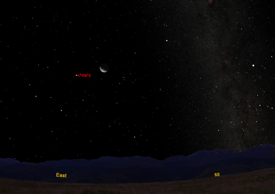 Mars, Moon & Meteor Shower Put on Predawn Sky Show Friday