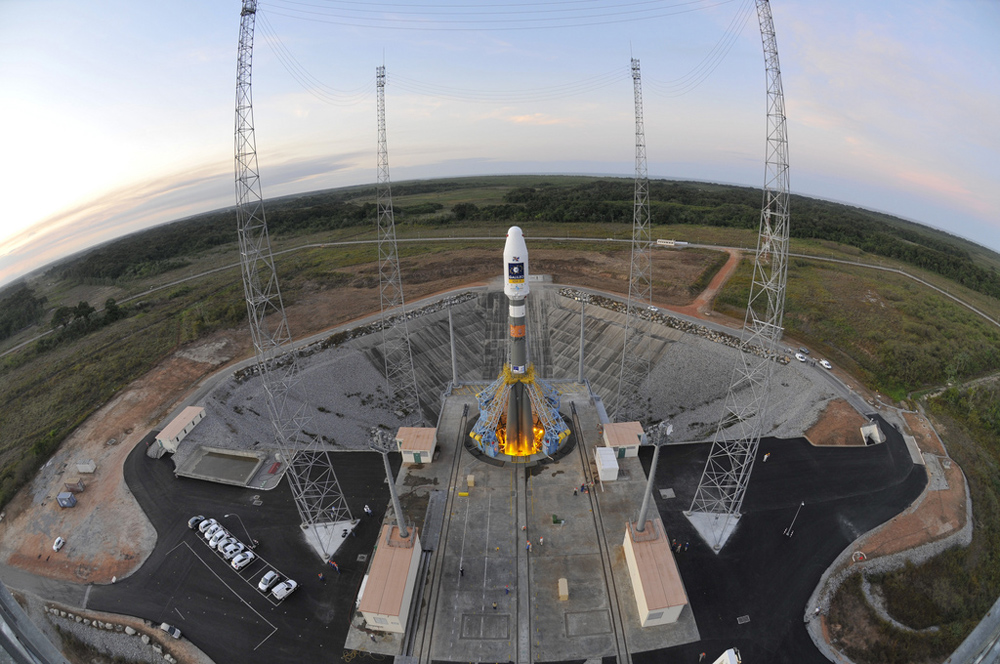 Soyuz VS01 on the Launch Pad (Wide Angle)