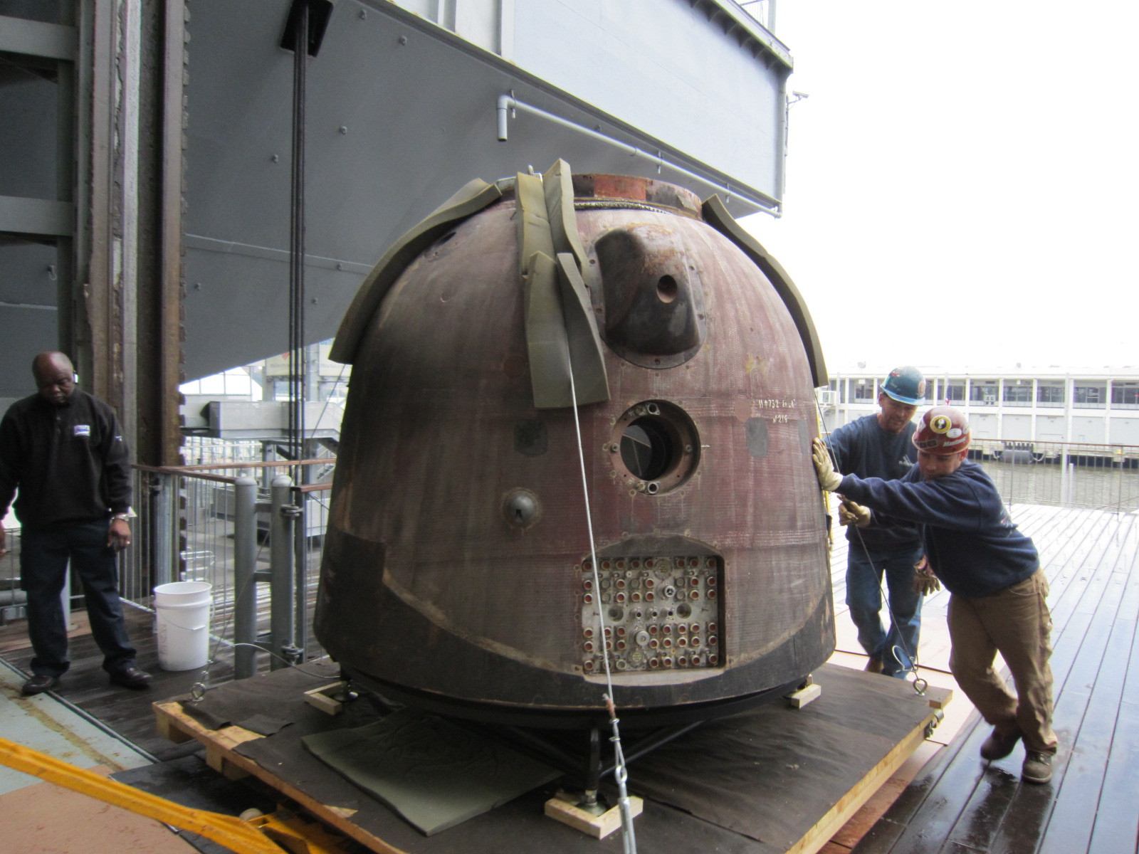 Russian Space Capsule Touches Down at NYC Museum