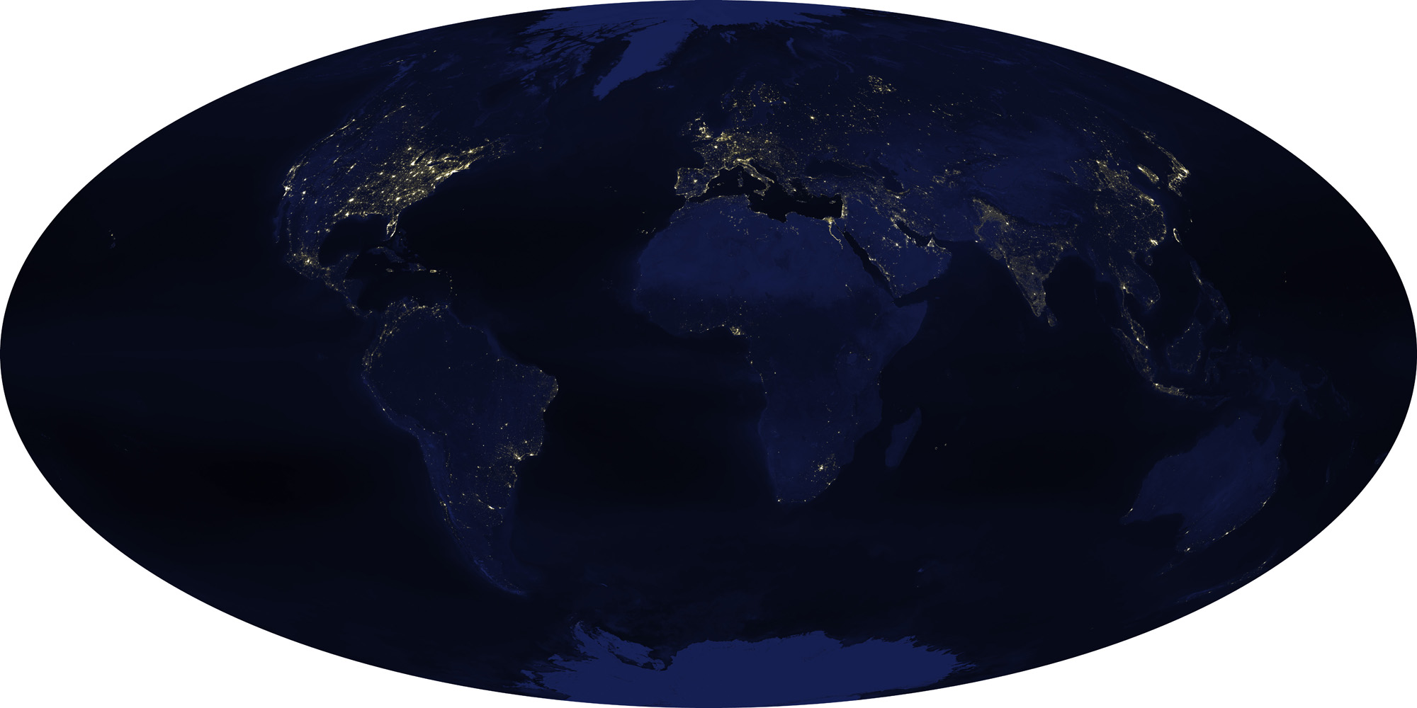 Earth's City Lights: 2003 Satellite View