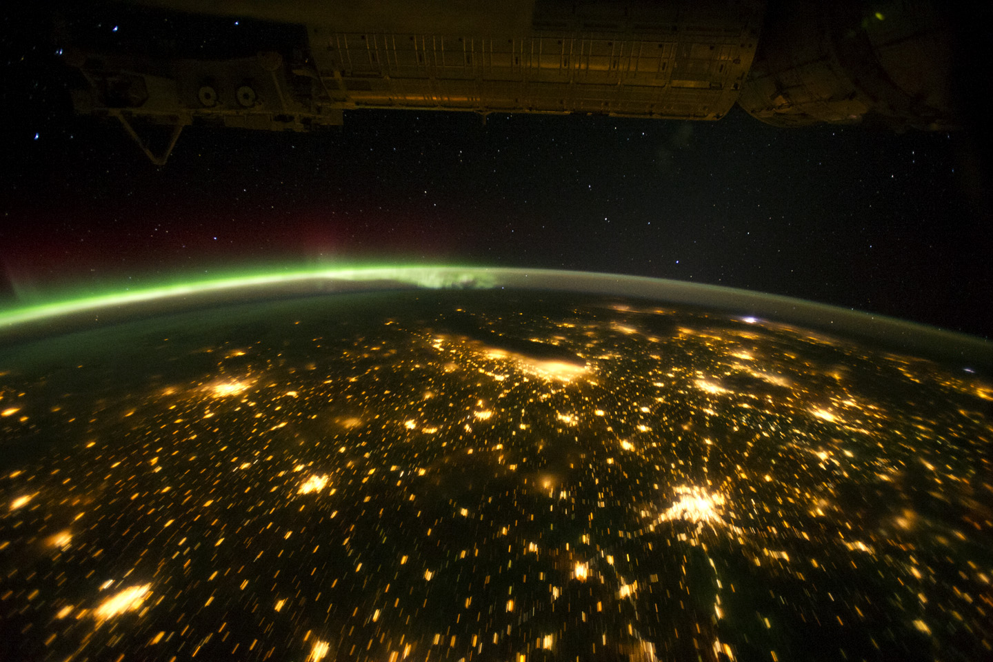 Earth 39 s cities at night photos from space for When was space made