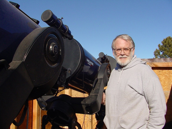 Astronomer Brian Warner, director of the Palmer Divide Observatory, is leading a campaign of largely backyard astronomers to observe asteroid 2005 YU55 during its Nov. 8, 2011 close flyby of Earth.
