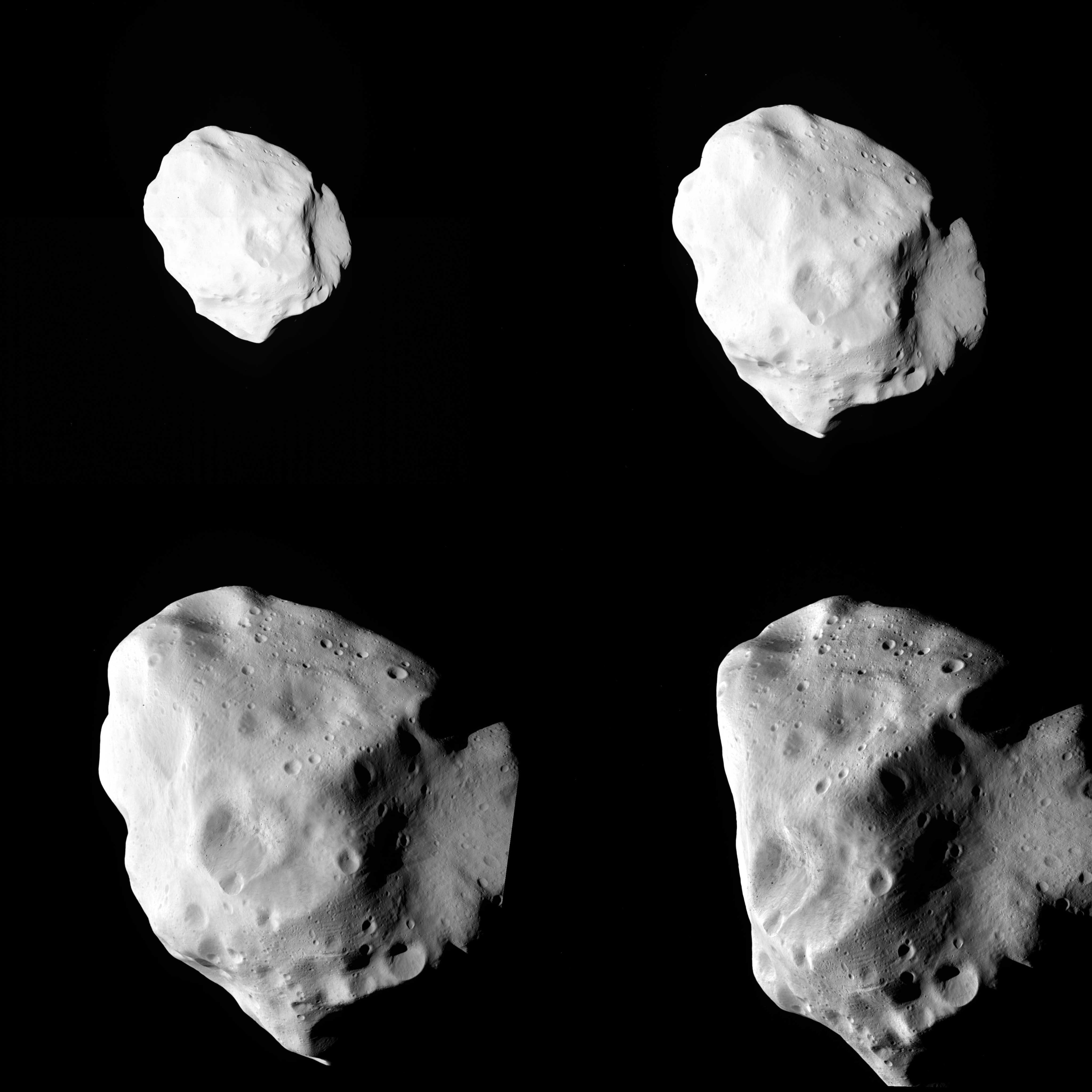 Asteroid Lutetia in Four Parts
