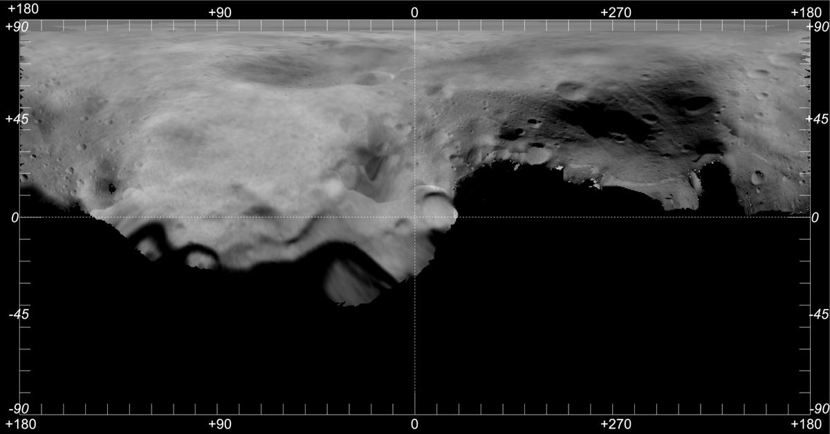 Asteroid Lutetia Map