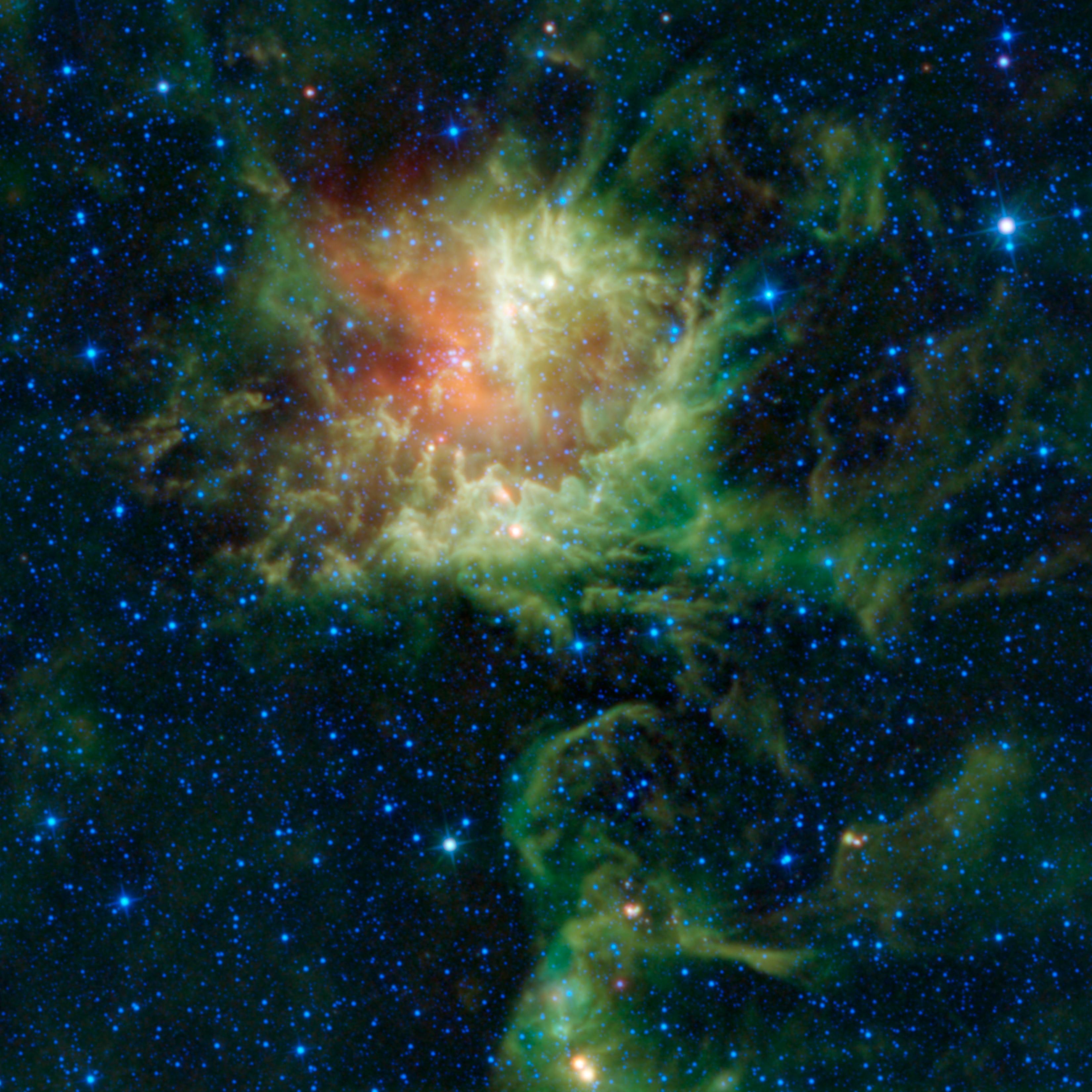 'Pacman' Nebula Grows Teeth to Chomp on Space