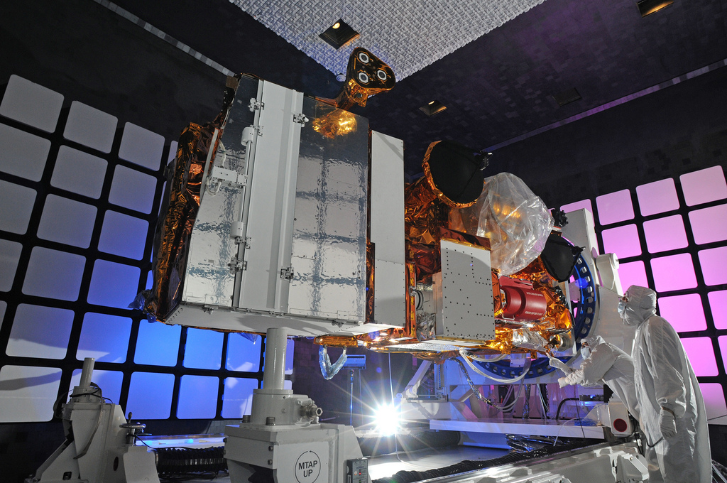 NPP Satellite in Electro Magnetic Interference Chamber
