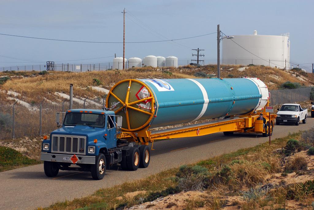NPP's Delta 2 Rocket Arrives at Vandenberg Air Force Base