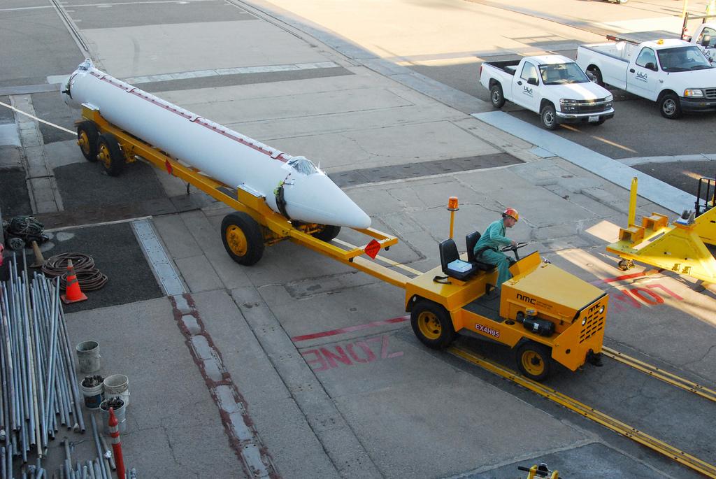 NPP's Solid Rocket Motor Arrives at Vandenberg Air Force Base