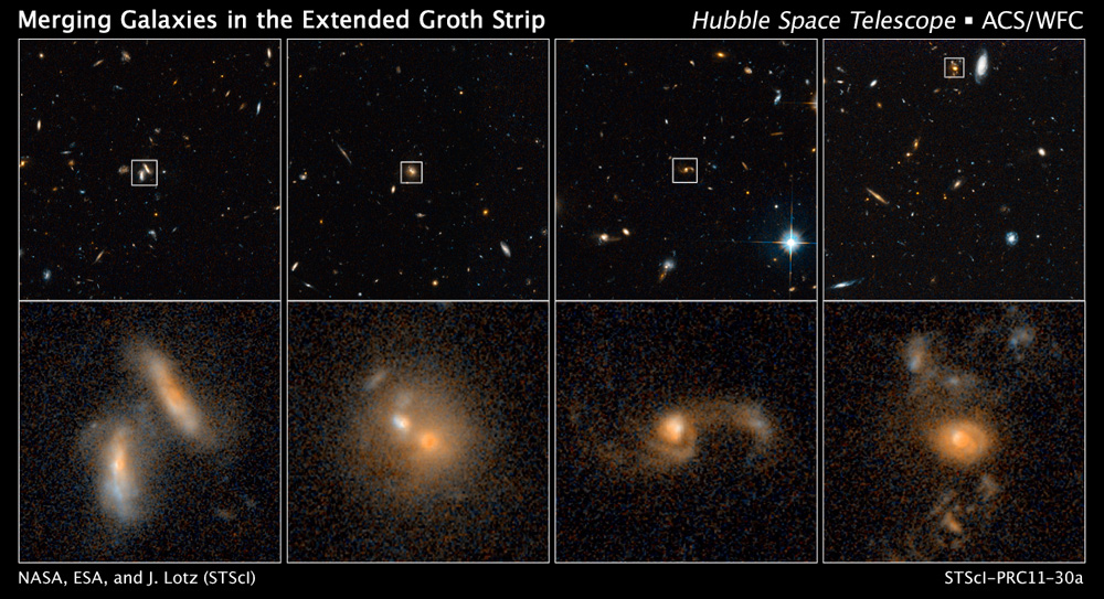 Space Traffic Report: Hubble Telescope Counts Galaxy Crashes