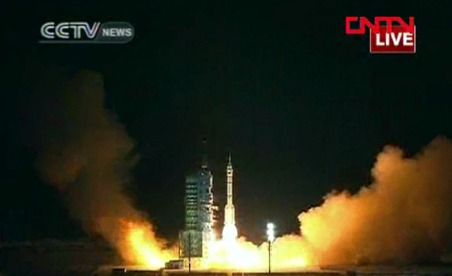 China Launches First Space Docking Mission