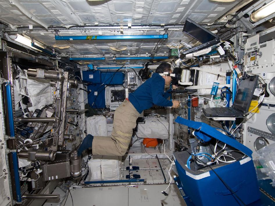 Expedition 29 Flight Engineer Studies Effects of Microgravity