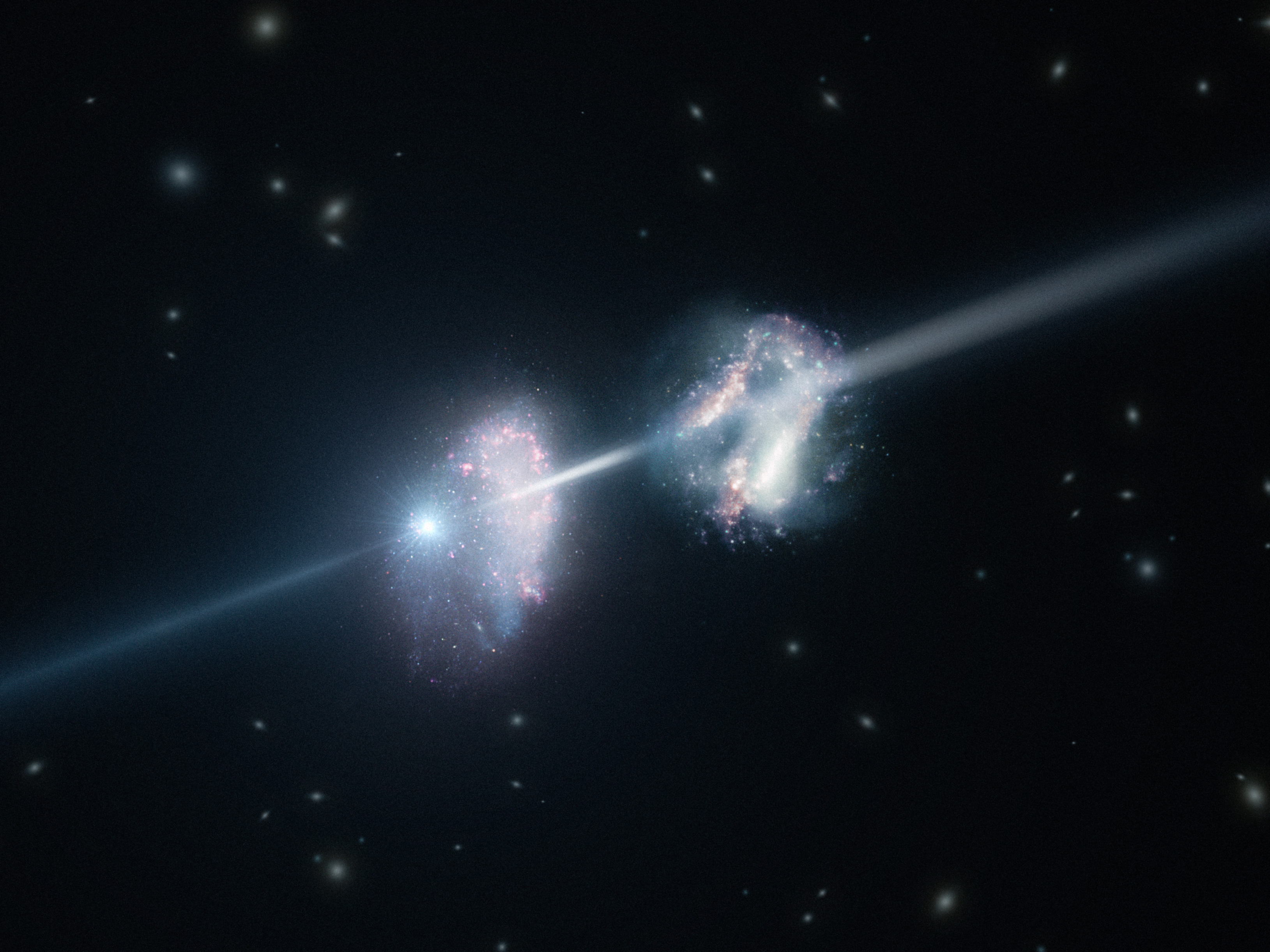 Bright Space Explosion Reveals Surprising Ingredients of Galaxies