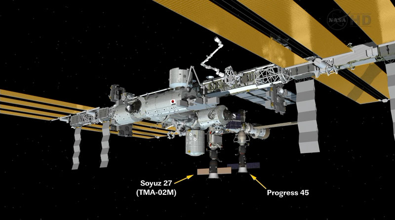 New Robot Russian Cargo Ship Docks at Space Station