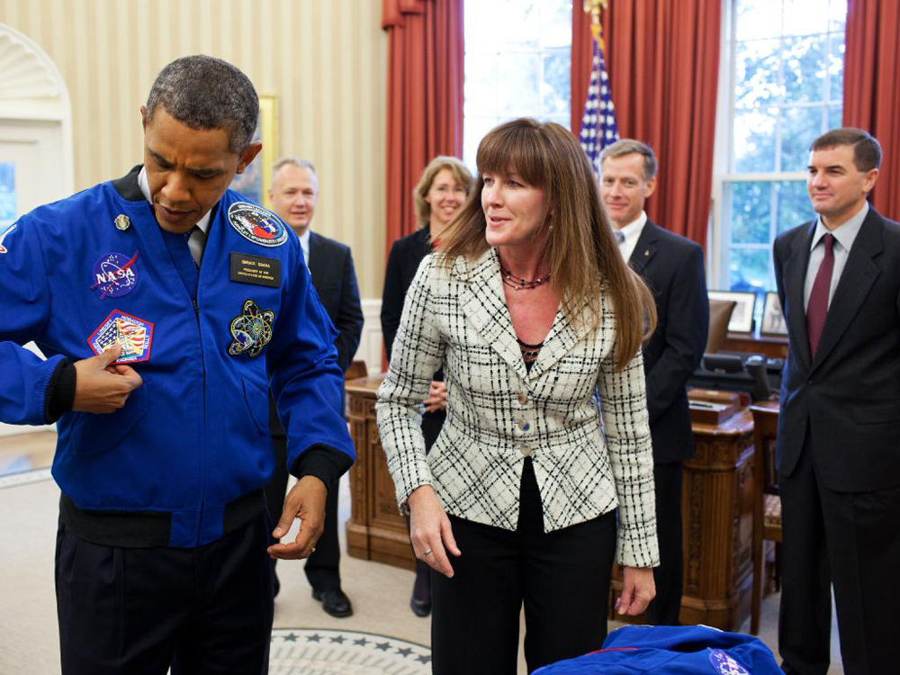 President Obama Receives NASA Jacket