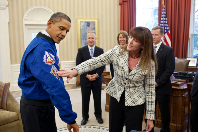 President Obama Meets the Final Shuttle Crew in the White House